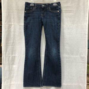 Girls Levi's Boot Cut Denim Blue Jeans 8